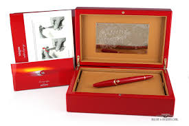 ferrari gold montegrappa for ferrari fb gold w red limited edition fountain