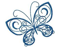 decorative butterfly free embroidery design