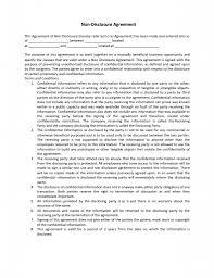 non disclosure agreement template cyberuse