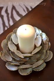 Seashell Home Decor Seashell Candle Holder Whats Ur Home Story