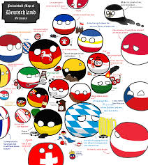 German States Map Map Of Germany Countryballs