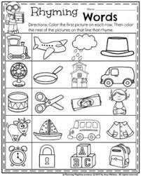 kindergarten rhyming words worksheets worksheets