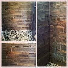 Rustic Bathroom Flooring Captivating Wood Look Tile Bathroom And Wood Look Tile Backsplash