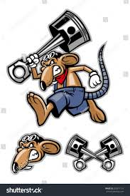 go the rat motocross gear rat mascot holding big piston stock vector 202871119 shutterstock
