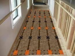 Modern Runner Rugs For Hallway Mid Century Modern Custom Rug Inspired By Otto Prutscler Fabric