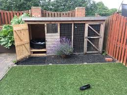 outdoor dog kennel and run in dronfield woodhouse derbyshire