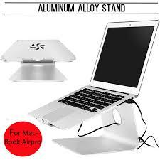 mac laptop holder for desk silver metal notebook laptops stand desktop holder for macbook