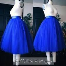 royal blue tulle custom made royal blue tulle tutu style skirt for brides