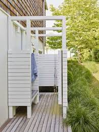 How To Build An Outdoor Shower Enclosure - photo gallery of park model outdoor shower enclosures for outside