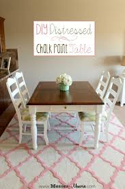 How To Paint A Dining Room Table by Diy Distressed Chalk Paint Table