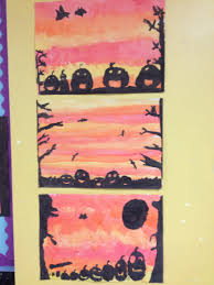 Halloween Acrostic Poem Halloween Paintings And Poetry By 3rd Class St Dominic U0027s