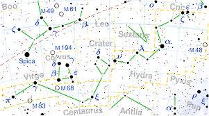 Declination Map 88 Modern Constellations By Area Wikipedia