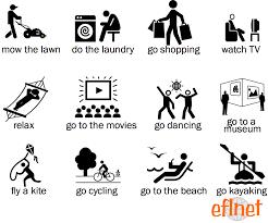 things to do on the weekend worksheet 1 eflnet efl esl