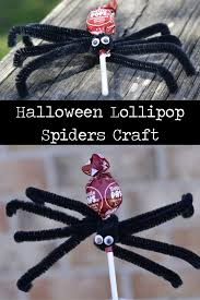 halloween lollipop spiders craft u2022 fyi by tina