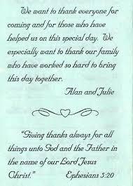 exles of wedding program wording best thank you message for wedding invitation wedding invitation