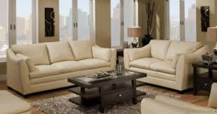 Ivory Leather Loveseat Leather Sofa Loveseat Finelymade Furniture