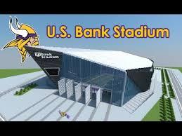 map us bank stadium minecraft megabuild u s bank stadium minnesota vikings