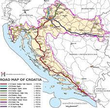 map of roads map of roads in croatia croatia travel guide