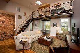 Modern Loft Style House Plans Industrial Lofts Living Room Industrial With Open Concept Loft