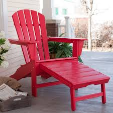 Reclining Patio Chair With Ottoman by Polywood Recycled Plastic Big Daddy Adirondack Chair With Pull