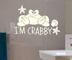 i am crabby crab bathroom decal vinyl wall lettering walls i am crabby crab bathroom decal vinyl wall lettering