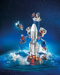 amazon com playmobil space rocket with launch site toys u0026 games