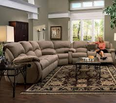 Sectional Recliner Sofas Microfiber Sectional Recliner Sofa With Cup Holders In Chocolate Microfiber