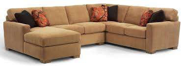 Flexsteel Sectional Sofa Flexsteel Bryant Contemporary 3 Pc Sectional Sofa With Laf Chaise