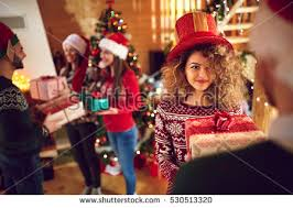 christmas gift exchange stock images royalty free images