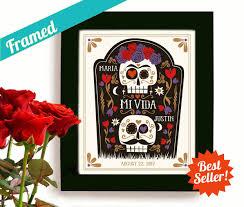 sugar skull mexican folk art halloween wedding gift day of the