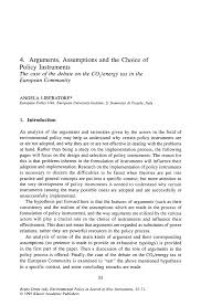 Sample Resume Education Section by Arguments Assumptions And The Choice Of Policy Instruments Springer