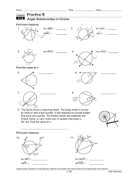 Segment Lengths In Circles Worksheet Answers Archives Geometry