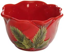 poinsettia dinnerware bowls christmas wikii