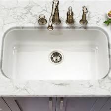 Houzer Kitchen Sinks KitchenSourcecom - Porcelain undermount kitchen sink