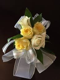 white corsages for prom white and yellow corsage for prom boutonnieres and corsages