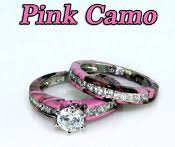 Camo Wedding Rings by Camo 15 Stone Wedding Set