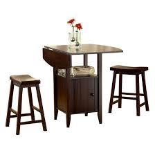 drop leaf bar table bernards wenge drop 3 piece leaf pub table set with stools wenge