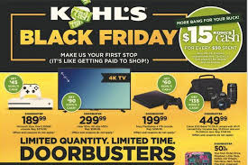 kohl s black friday 2017 ad deals how are they
