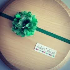 green headband emerald green puff baby headband for photo prop st patricks