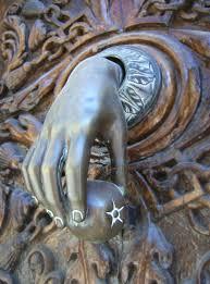 hand door knocker trujillo spain credit julius eugen history