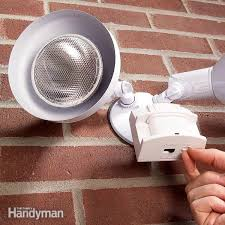self contained motion detector light how to choose and install a motion sensor light the family handyman