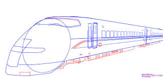how to draw a bullet train step by step trains transportation