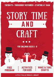 storytime u0026 craft u2013 december u2013 the little falls public library
