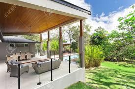 Modern Backyard Modern Backyard With Entertaining Area In Stylish Australian