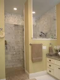 bathroom appealing small bathroom open shower doorless shower
