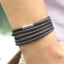 leather bracelet designs images Mens braided leather bracelet grace callie designs jpg