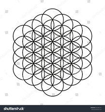 flower life tattoo design mandala circle stock vector 275381417