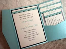 pocket folded wedding invitations with rsvp cards included