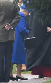 queen makes first public appearance for a month after heavy cold