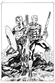 15 images of bucky and captain america coloring pages captain